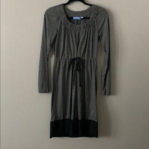Simply Vera Wang Jersey Tie Dress Grey XSmall